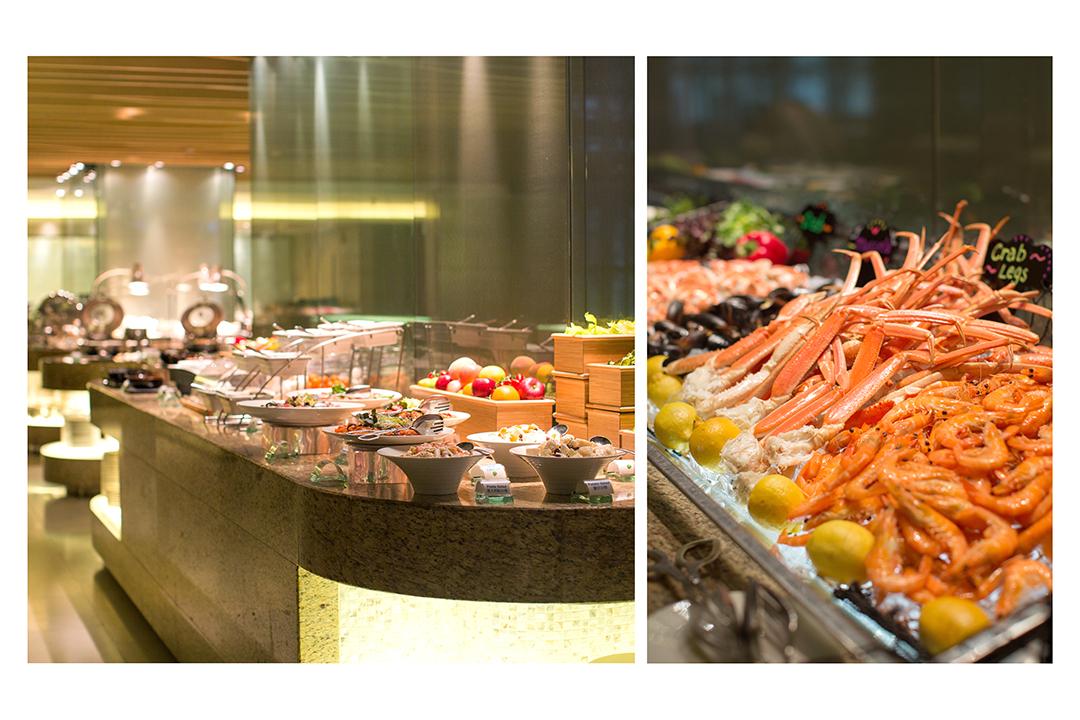 以海鮮為主題的LIS Café,由加拿大雪花蟹腳、生蠔、凍蟹、冰島大蝦到青口,琳瑯滿目,一應俱全。
