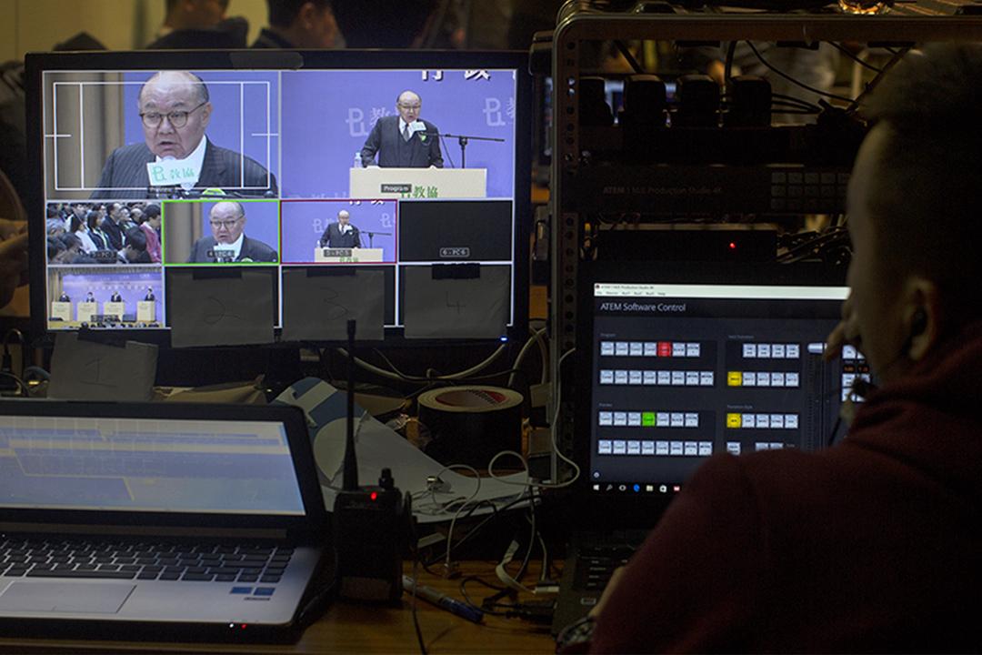 胡國興出席選舉候選人論壇。