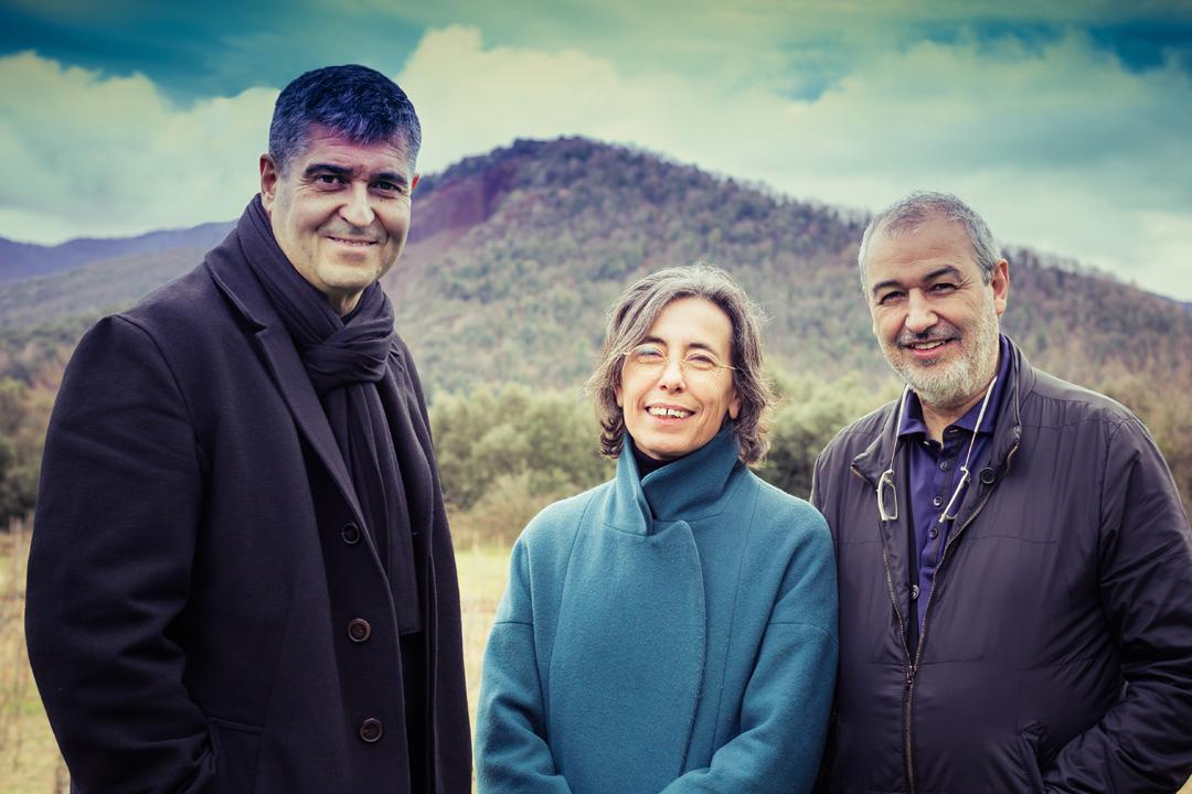 2017年的普立茲克建築獎得主、西班牙建築事務所RCR Arquitectes三人組Rafael Aranda、Carme Pigem與Ramon Vilalta。