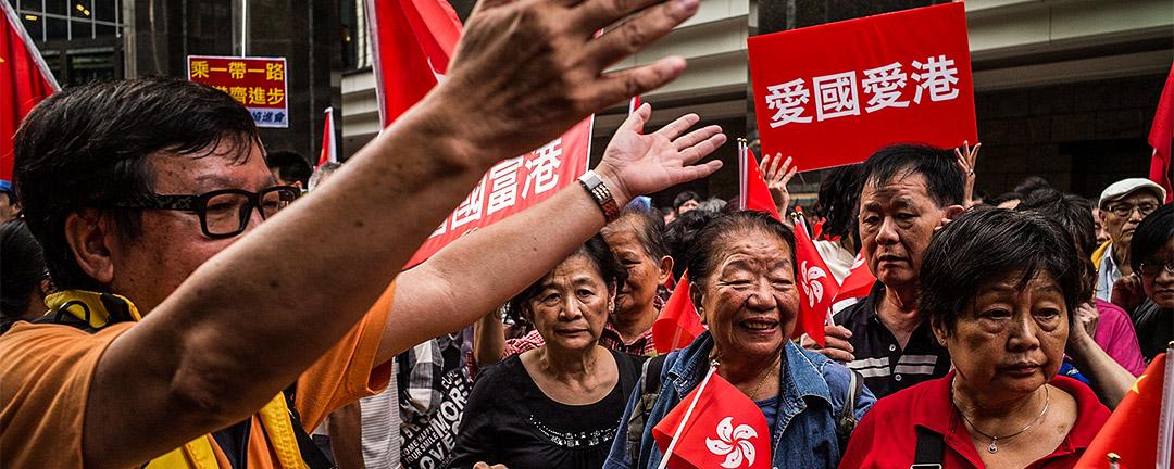 2016年5月,張德江的支持者發起遊行。