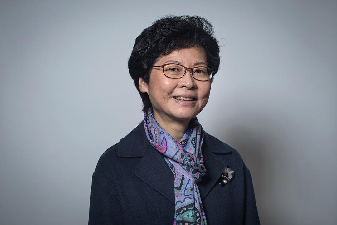 2017特首選舉候選人林鄭月娥。