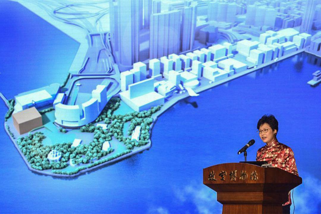 2016年12月22日,林鄭月娥就故宮博物館事宜發表講話。