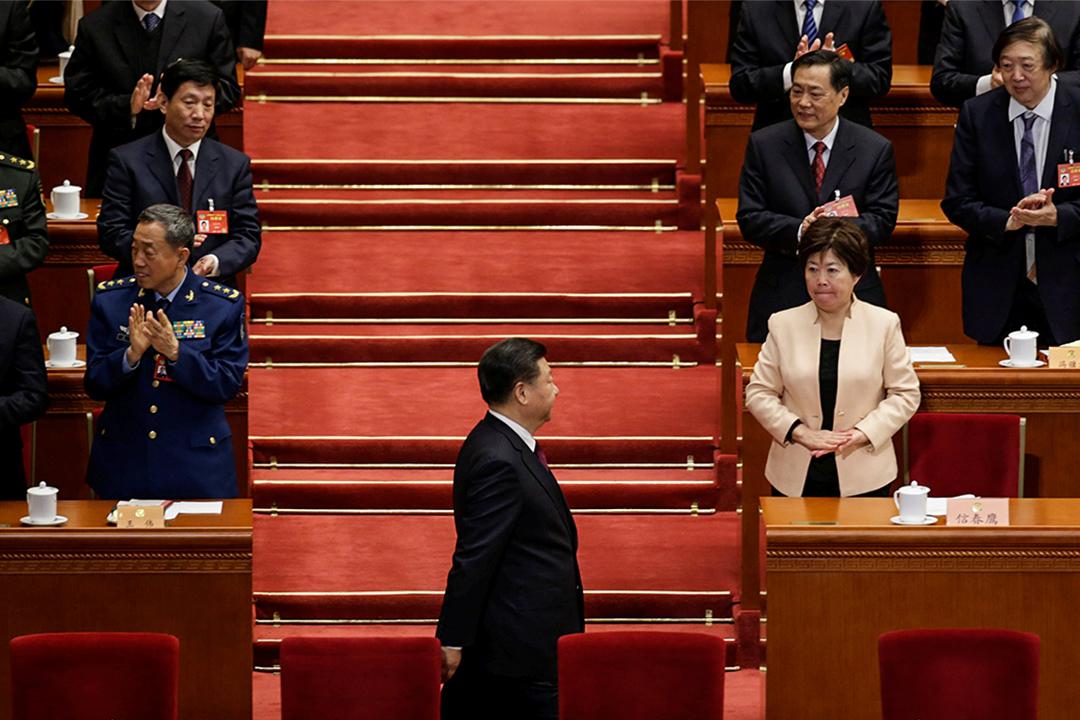 中國國家主席習近平出席在中國北京人民大會堂舉行的全國政協會議開幕式。