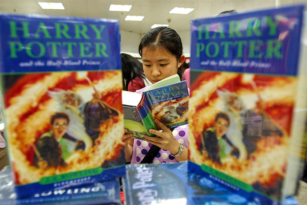 消息指中國限制外國兒童讀物的於國內的銷售數量。圖為中國廣州一家書店。