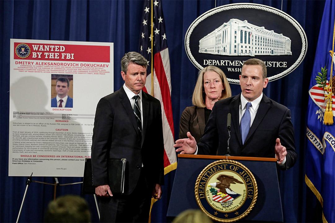 美國指控Yahoo數據洩漏是俄羅斯間諜在背後操控,起訴兩名俄國情報官員及兩名黑客。