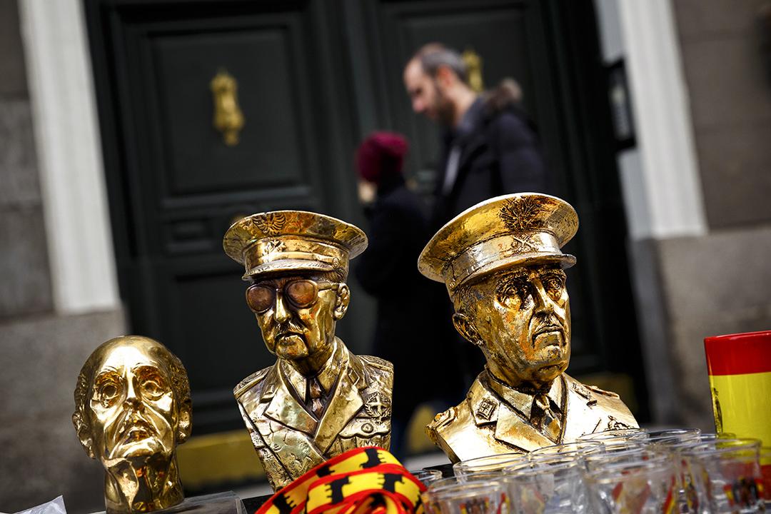 圖為西班牙獨裁者佛朗哥的雕像。