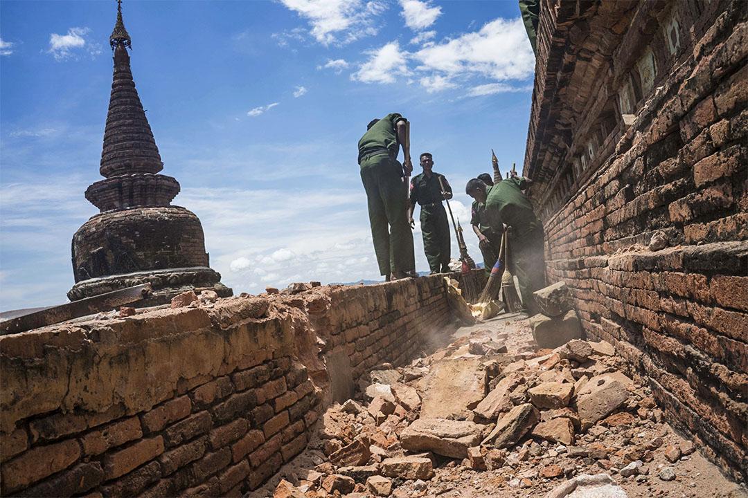 2016年八月中,蒲甘遭遇6.8級地震。由於宗教原因及軍政府利益等因素,古建築多用最經濟的方式重建或者翻新,變成徹頭徹尾的仿古建築。