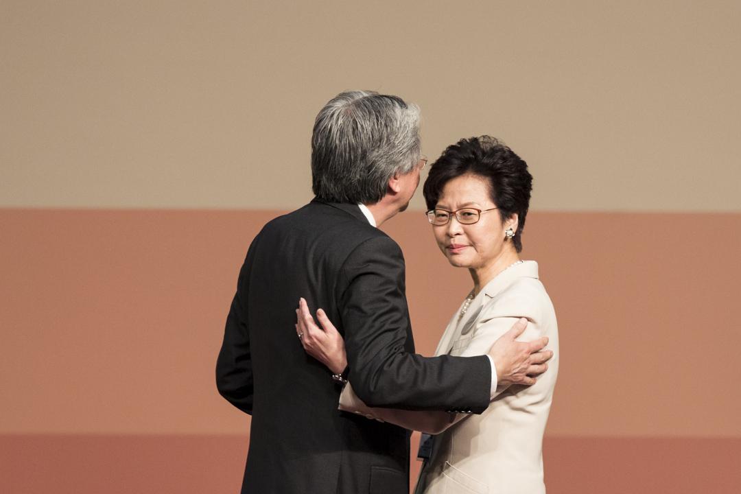 2017年3月26日,林鄭月娥以約777張選票,當選香港下任特首。