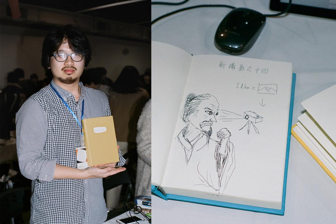 幾本鮮色封面的筆記本,李承翰和汪正翔畫了一張張示意圖,尤如武林秘笈,其實都是兩位藝術家對攝影的思考。