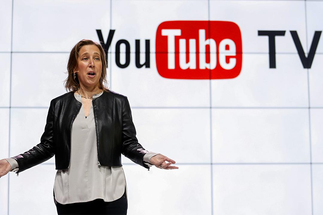 2017年2月28日,YouTube首席執行官Susan Wojcicki在洛杉磯介紹新推出的YouTube電視。