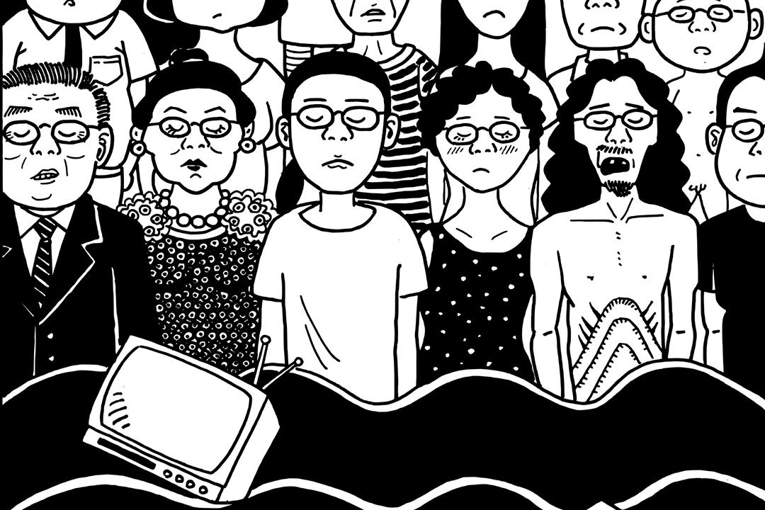 從戒嚴歷史、無家者、環境污染到潮流俚語,一個喜歡「無厘頭」的台灣學者,用單色點線刻劃這座城市笑中有淚的血肉與眾生相。