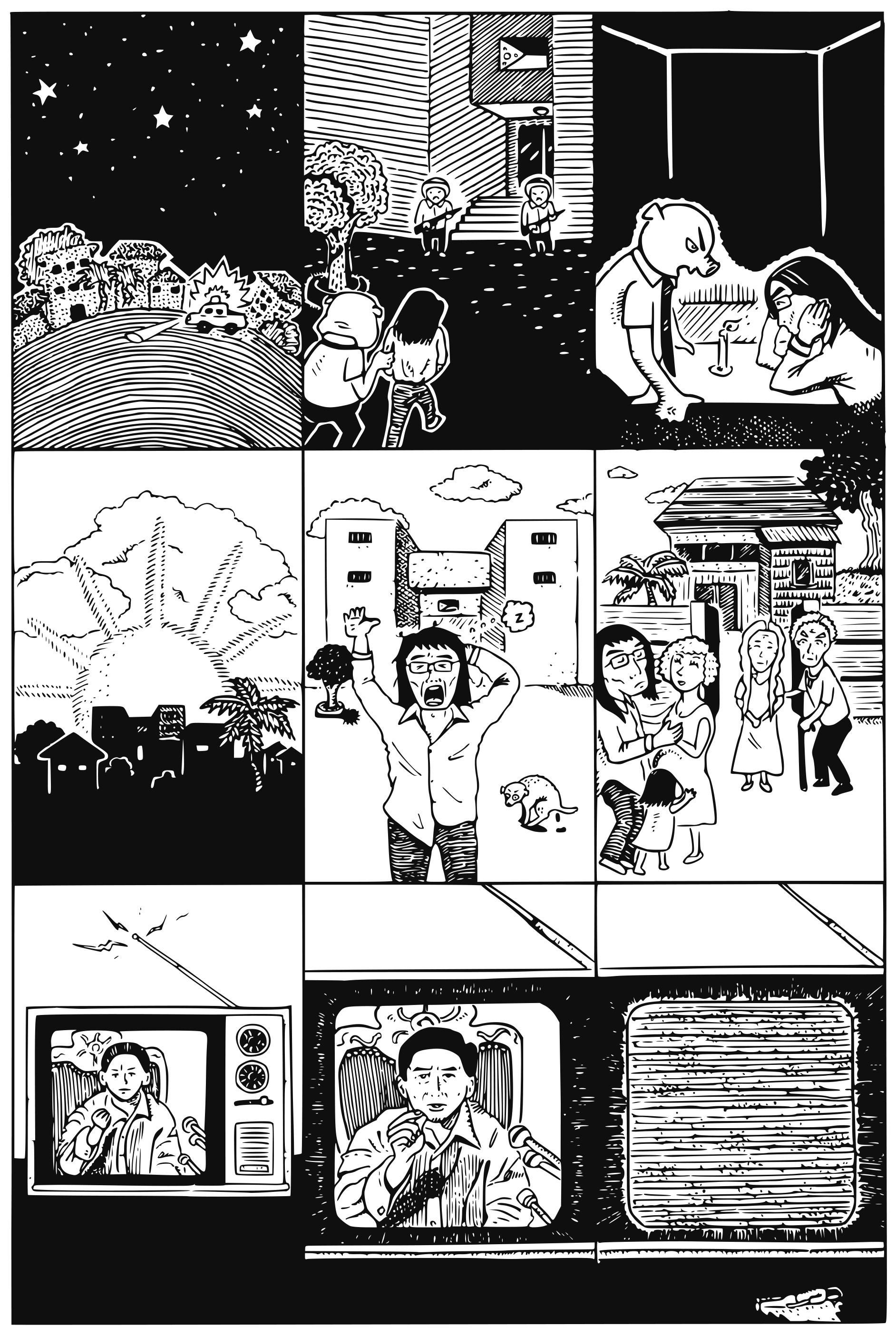 在〈戒嚴番外篇〉中,黃駿取材自岳父母一家在戒嚴令實施前一晚遭警察登門問話的小插曲。