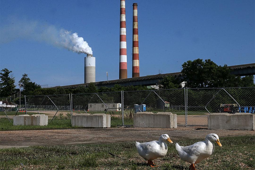 美國馬里蘭州燃煤發電站旁。