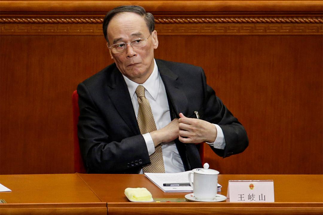 2017年3月5日,政治局常委、中紀委書記王岐山出席全國人民代表大會。
