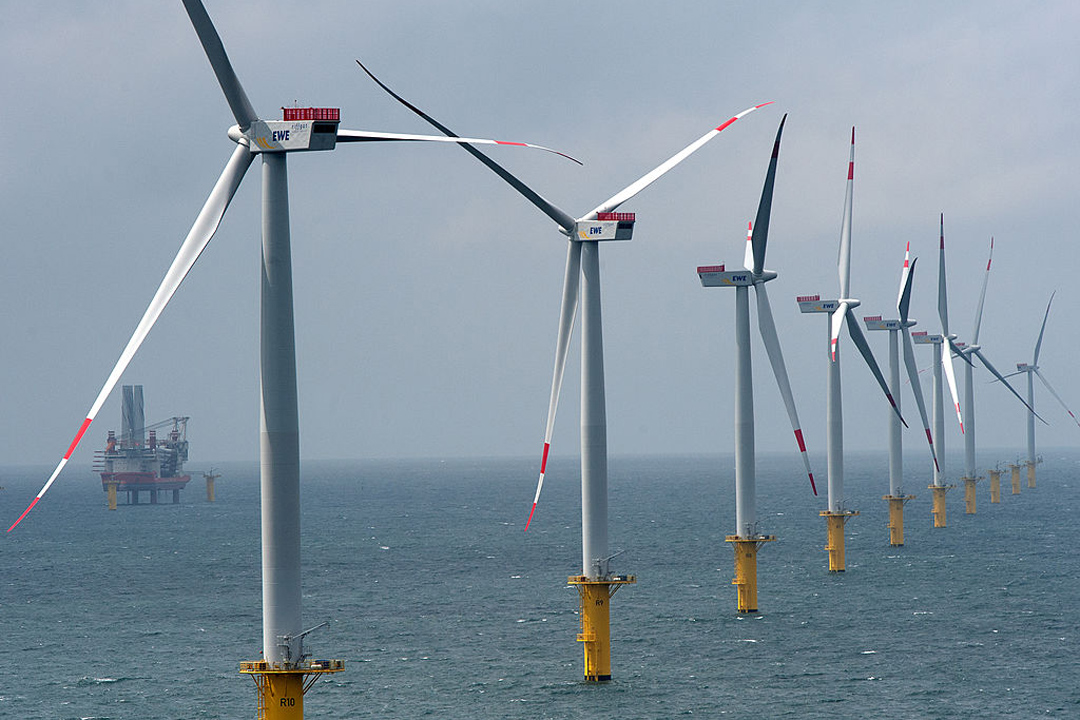 位於北海靠近德國Borkum的離岸風力發電項目Riffgat。