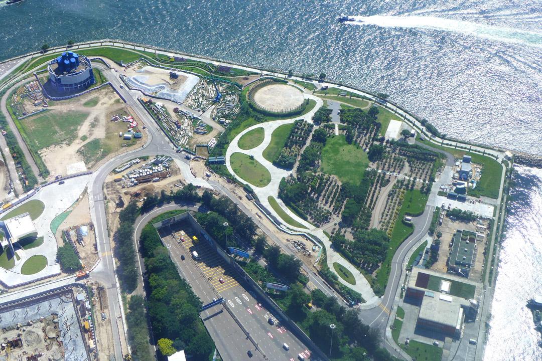 計劃展示北京故宮文物的香港故宮文化博物館興建地(圖右方位置)。