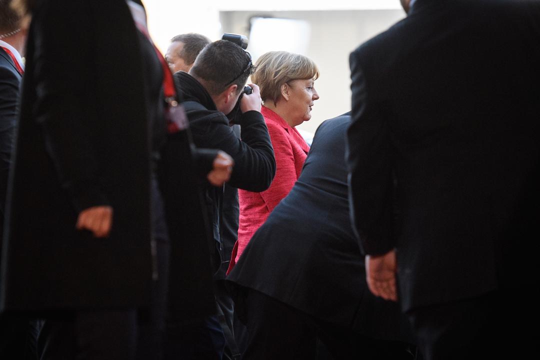 進入特朗普時代後,也許需要「德國帶領下的和平」的,不只是歐盟。圖為2017年2月3日默克爾抵達馬爾他參與歐盟領導人非正式峰會。
