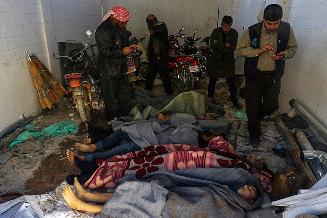 2017年4月4日,敘利亞毒氣攻擊致58死。