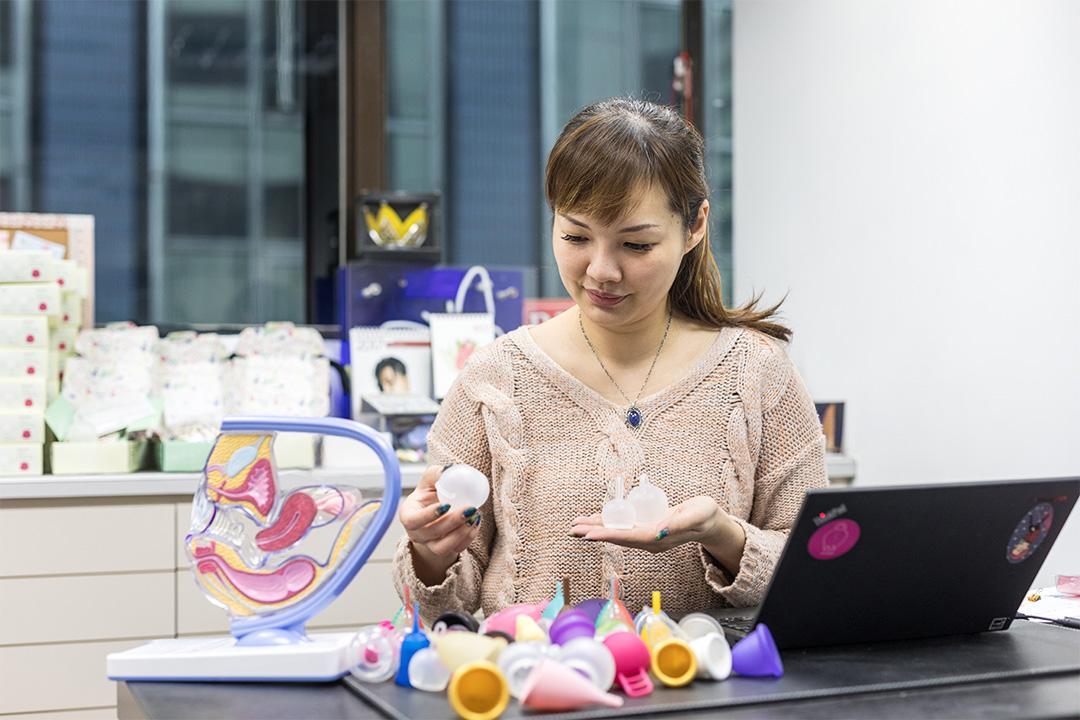 台灣首款月亮杯募資計畫發起人曾穎凡。