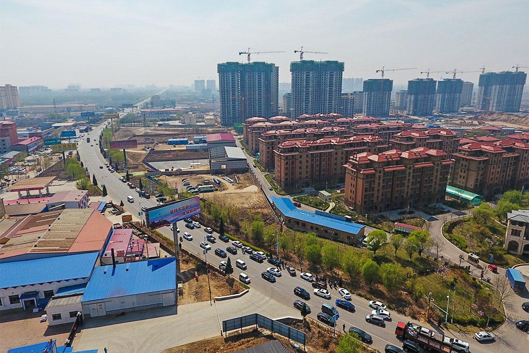 2017年4月2日,河北省保定市新經濟特區住宅建築鳥瞰圖。