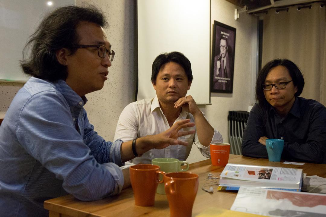 PHEDO 的核心成員:文化大學哲學系副教授吳豐維、曾留學法國唸電影的翻譯工作者梁家瑜、政治大學政治系副教授葉浩。