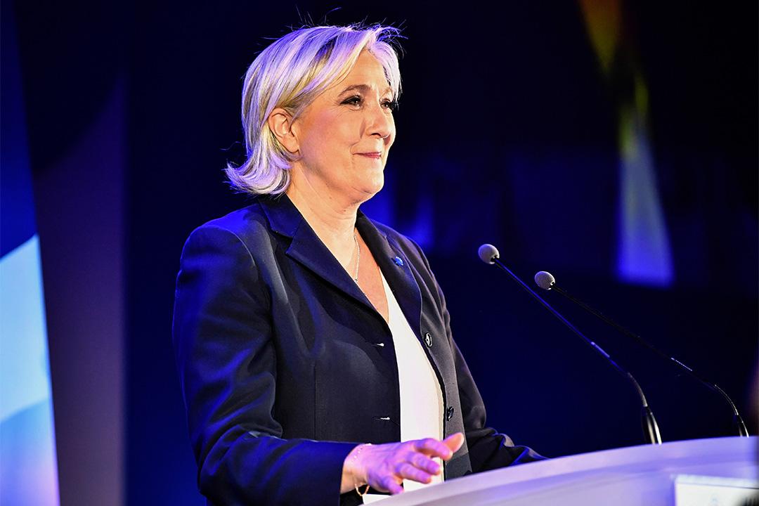 瑪麗勒龐(Marine Le Pen)宣布暫卸任國民陣線主席。