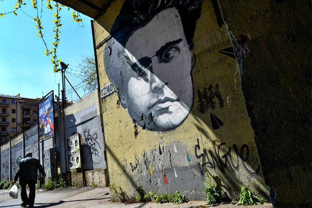 義大利共產主義思想家葛蘭西 (Antonio Gramsci) 塗鴉。