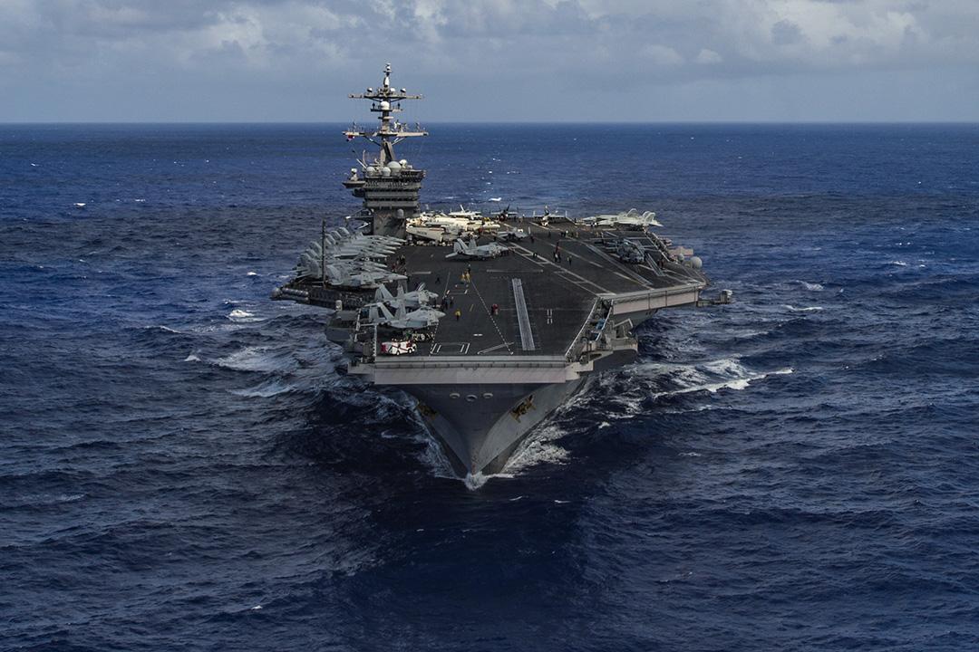 美國國防部確認,卡爾·文森號航母戰鬥群正駛向南北韓半島。