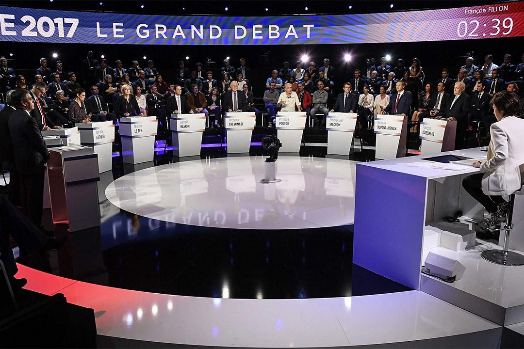 2017年4月4日,十一位總統候選人一併登台亮相,完成了迄今最大規模的競選辯論。