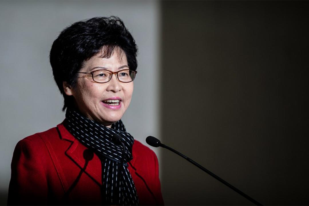 候任香港行政長官林鄭月娥。