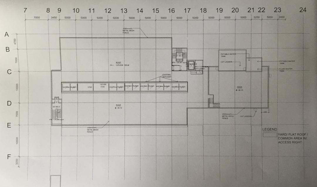 興民商場二樓圖則,圖中可見商舖重新間隔。