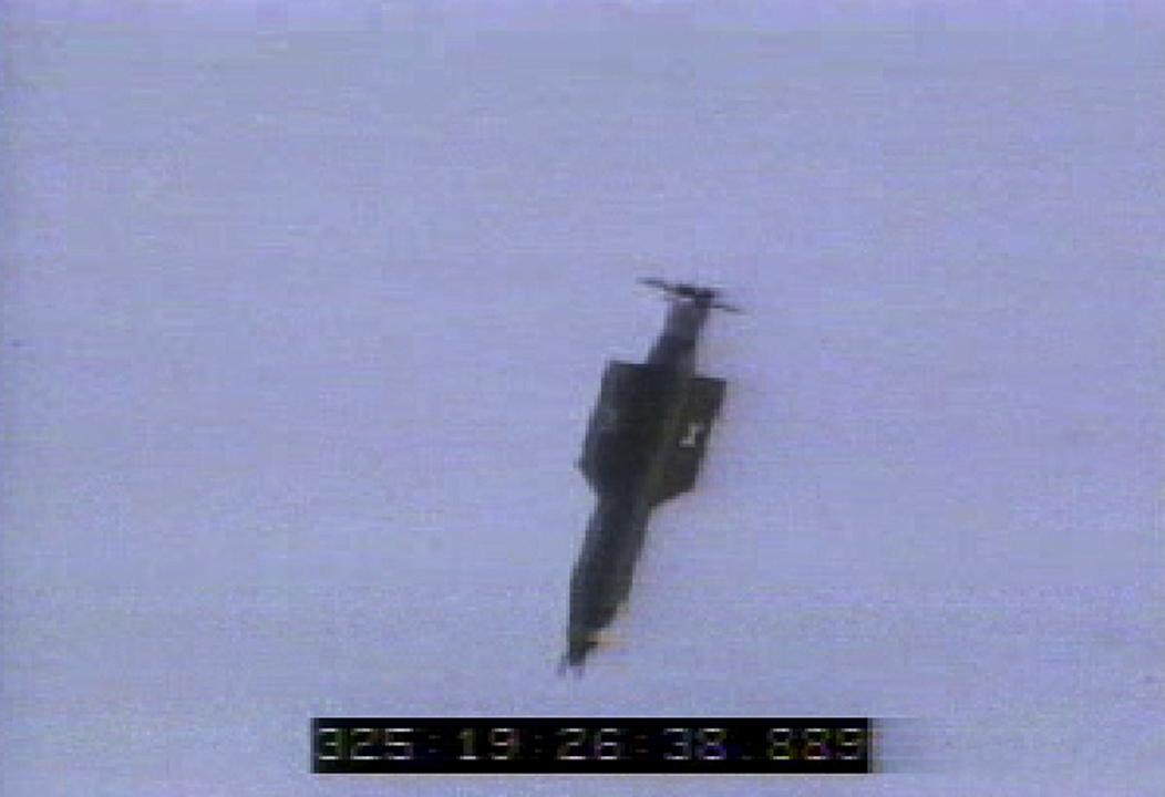 美國首次使用了被稱為「炸彈之母」的 GBU-43 炸彈打擊在阿富汗的 IS。圖為GBU-43 炸彈於2003年在佛羅里達州的空軍基地啟動情況。