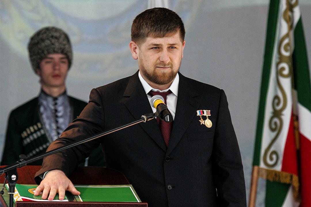 車臣總統 Ramzan Kadyrov 。