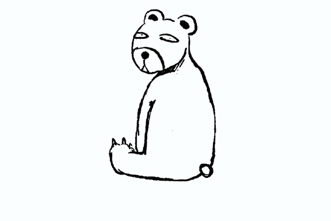 厭世動物園的「失業熊」。