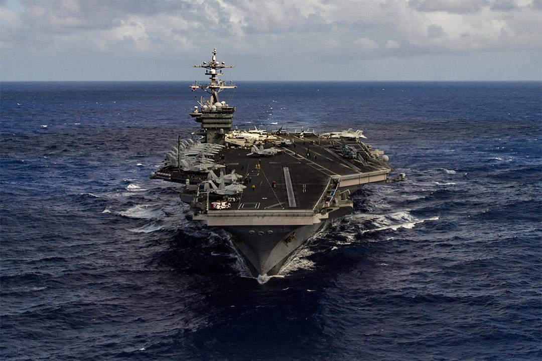 美軍航空母艦卡爾文森號戰鬥群將於周末到達朝鮮半島水域。