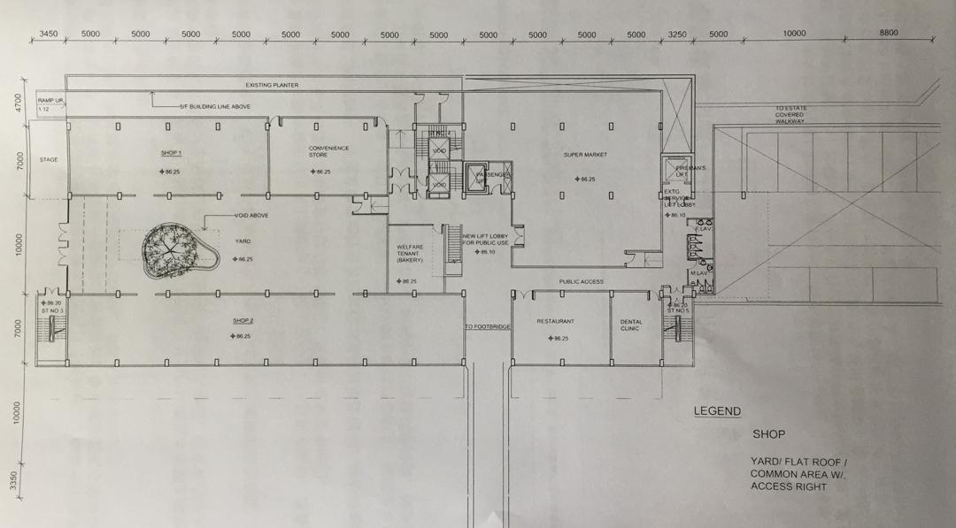 興民商場地下設計圖,早前曾有報導指出,商場將租予薈學國際學校,但至今未有定案。
