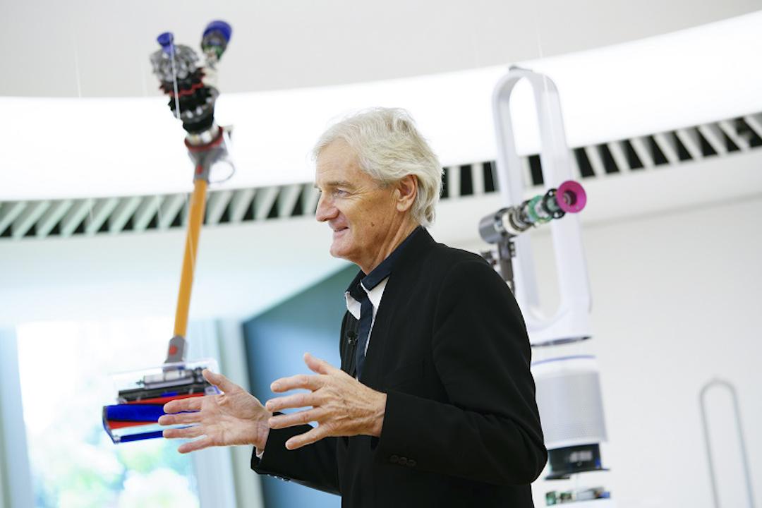James Dyson在新加坡科技中心演講。Dyson提供