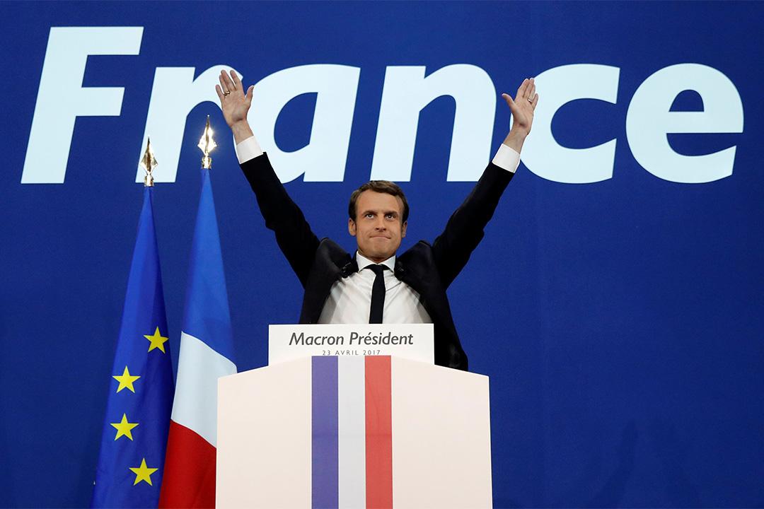 2017年4月23日,法國舉行了2017年總統大選的第一輪投票,據96%的開票結果顯示,候選人馬克隆獲得了23.9%選票。