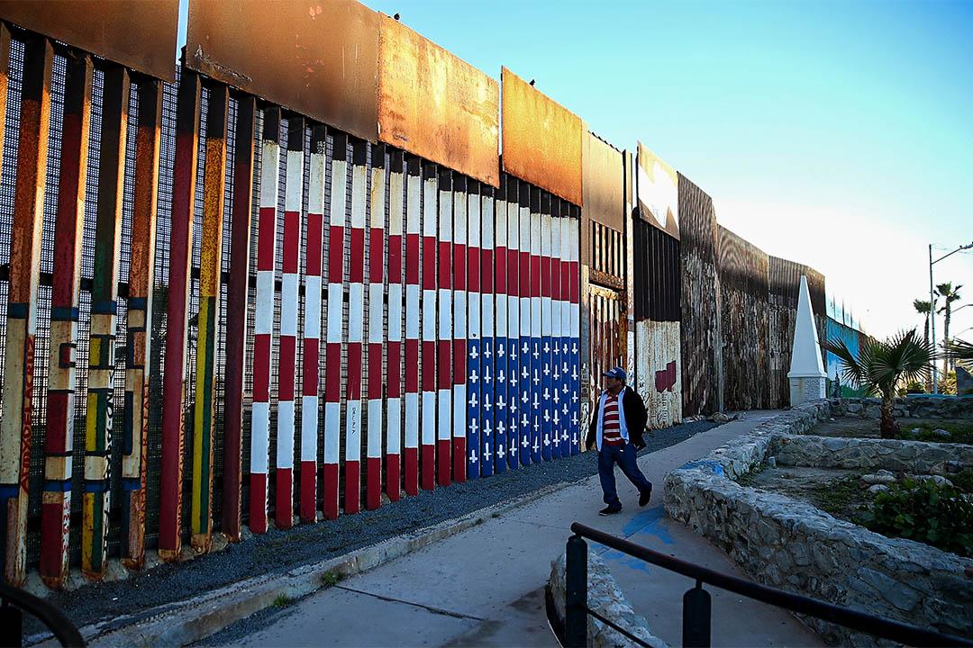 美墨邊境圍牆。