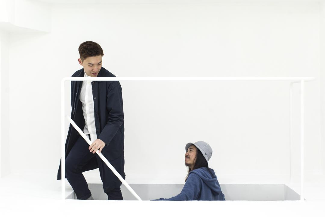 《乒乓》的設計團隊代表 Leumas 和阿哲