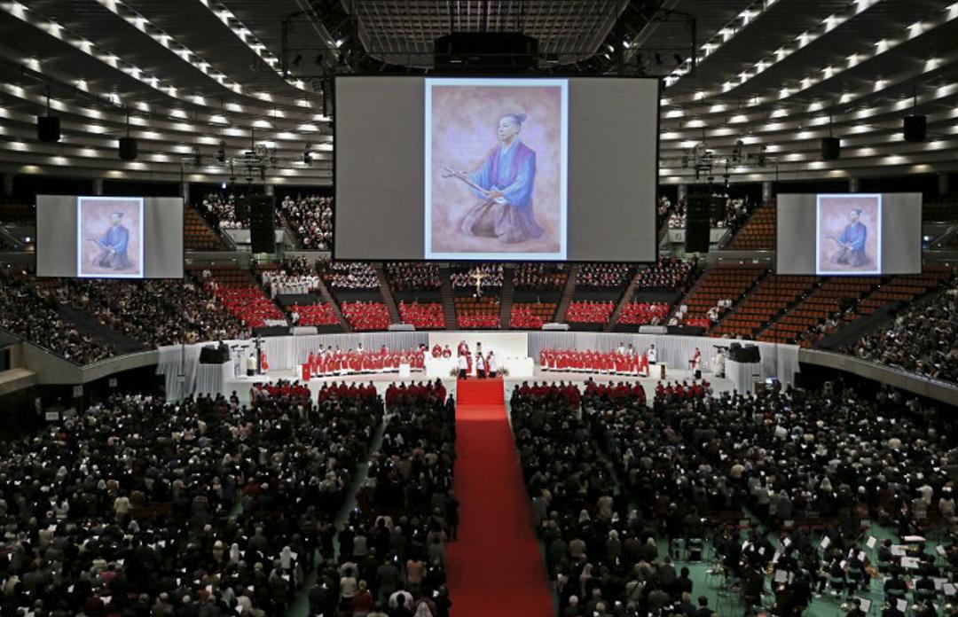 2017年2月7日,日本大阪一個基督教活動,有眾多信徒出席。