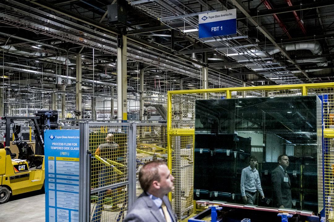 俄亥俄州Moraine工廠的工人投訴工資水平、安全設施及管理隨意等方面皆有問題,折射了中國本土工廠的典型模式。圖為俄亥俄州Moraine工廠的生產車間。