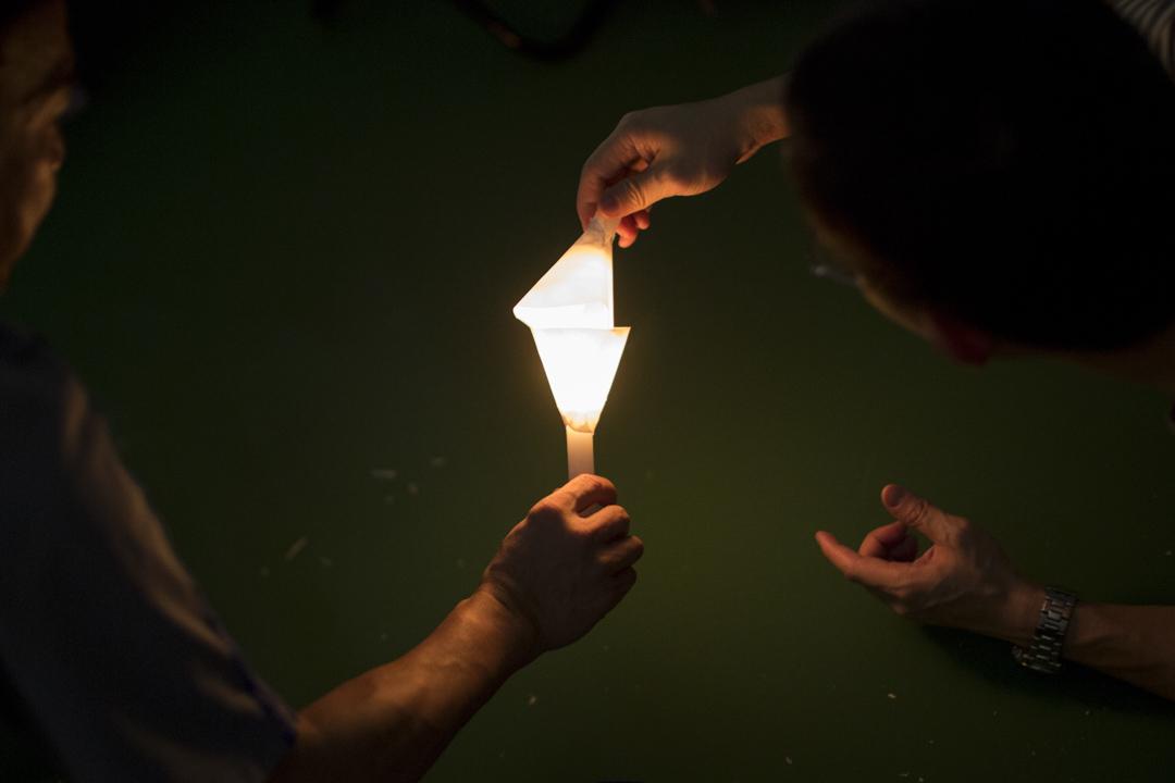 六四維園燭光集會。