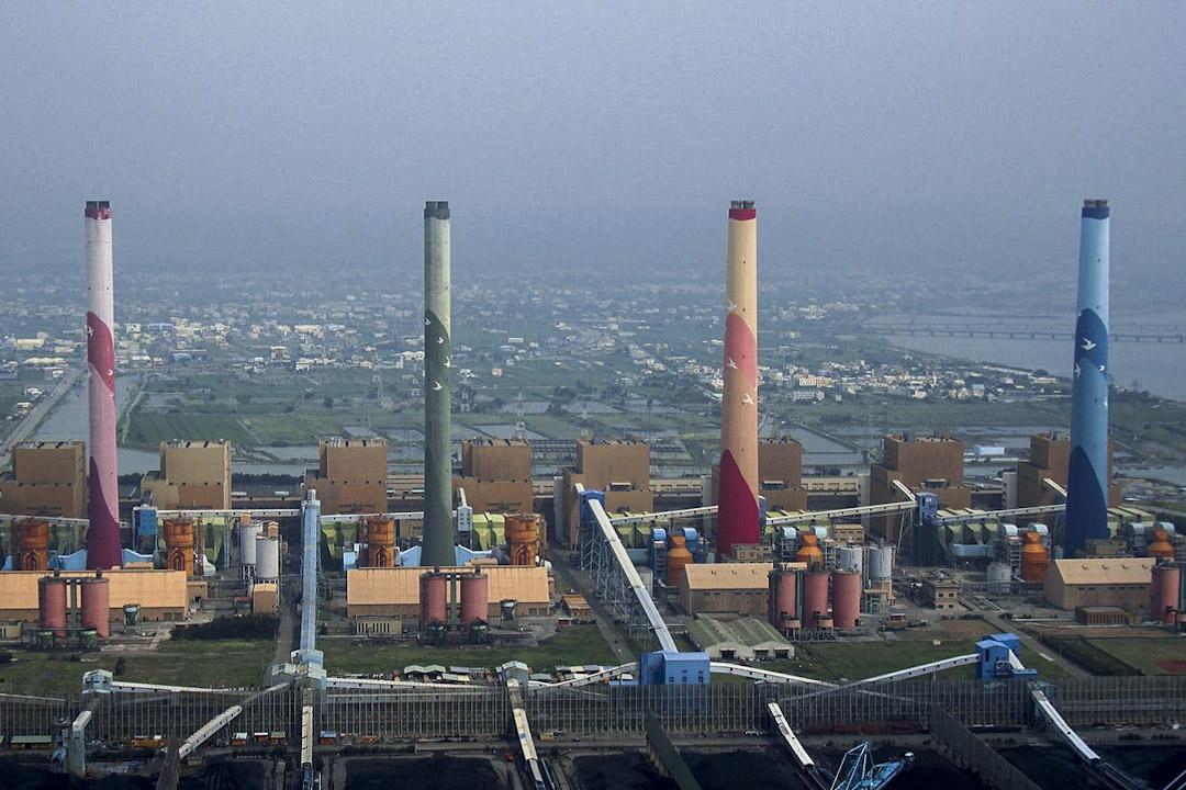 台中火力發電廠。