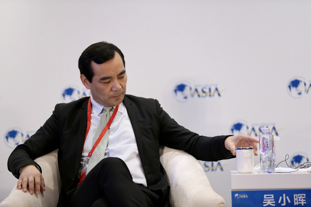 3月26日,安邦集團董事長吳小暉出席博鰲論壇。 摄:Imagine China