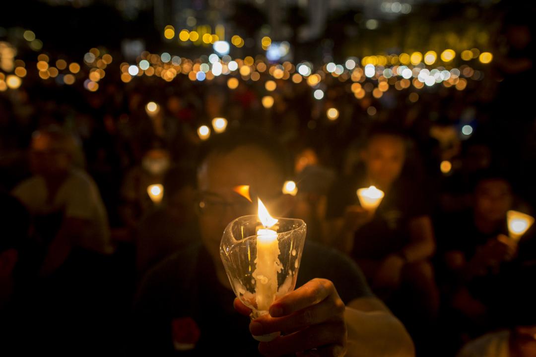六四维园烛光集会。