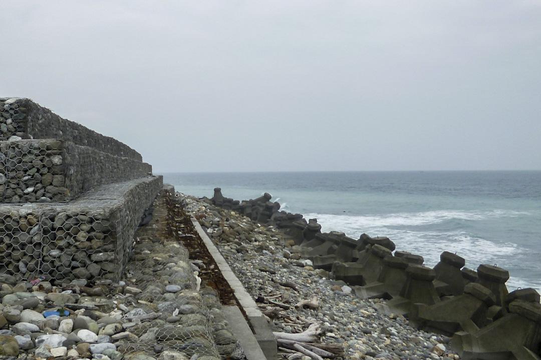 花蓮市海岸邊舊垃圾堆置場。