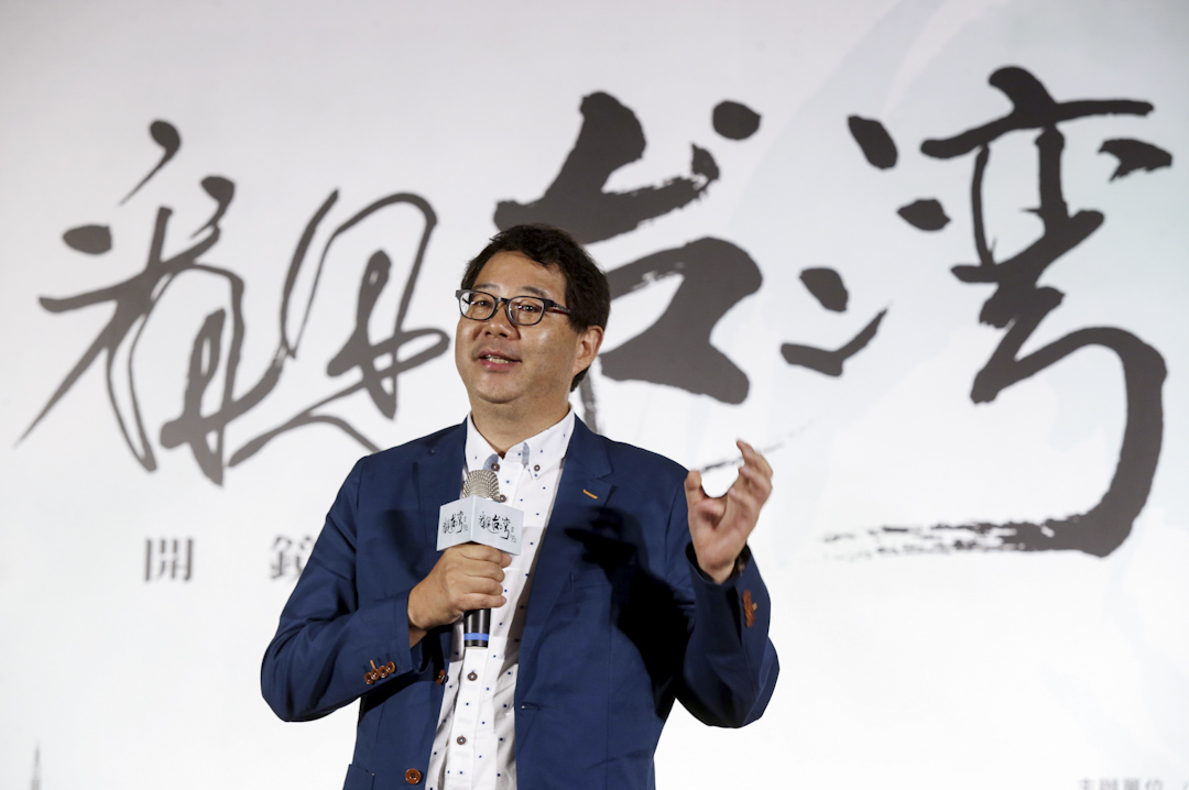 2017年6月8日,導演齊柏林於台北出席《看見台灣II》開鏡記者會。