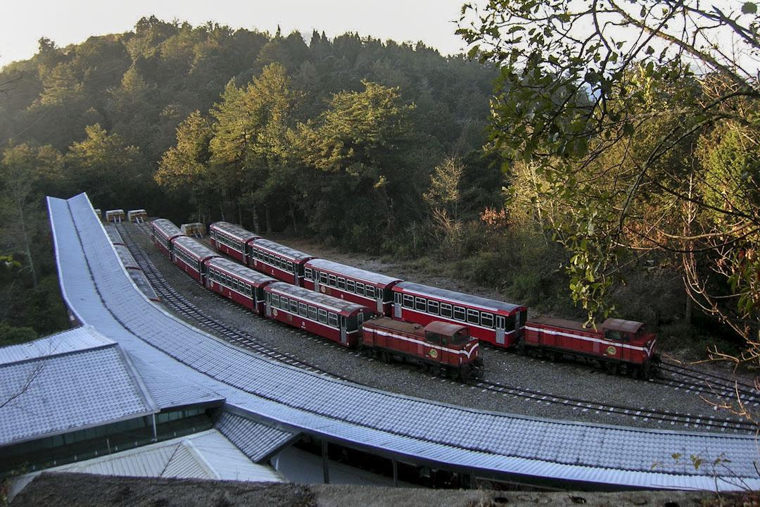 阿里山祝山車站。