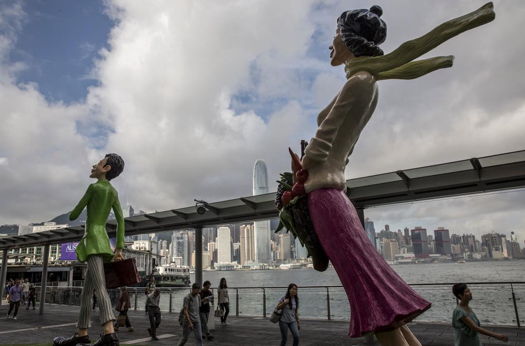 香港,尖沙咀海旁。 攝:Palani Mohan/ Getty Images